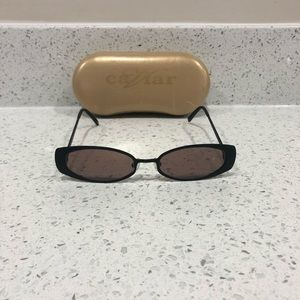 a0cbc60d36ec Caviar Accessories | Nwot Crystal Black Vintage Sunglasses | Poshmark